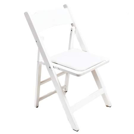 Wood Folding Chair White