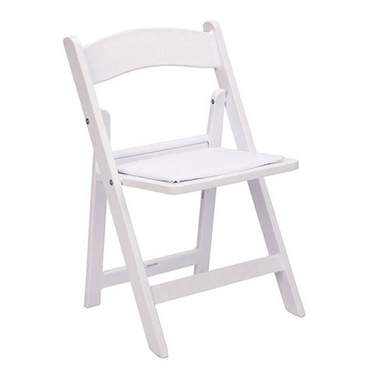 Child White Resin Folding Chair