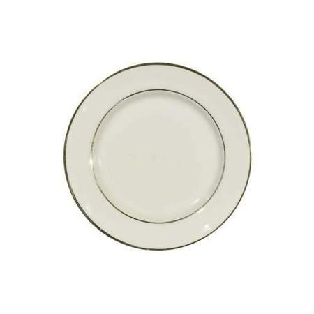 Ivory Double Gold Banded Porcelain Saucer