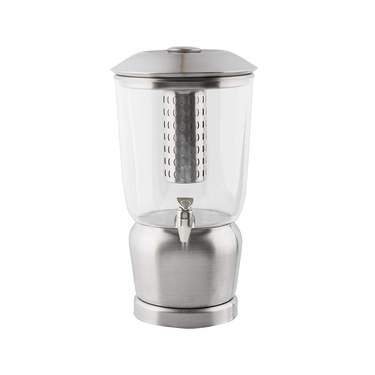 Beverage Dispenser, S/S 5 Gal w/ Ice Dispenser & Infuser