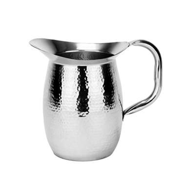 Chrome Hammered Pitcher 64oz