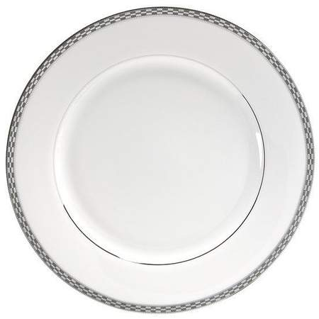 """Athens with Platinum Edge Chop Plate 12"""""""