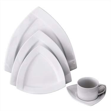 Trifecta White Porcelain Pattern