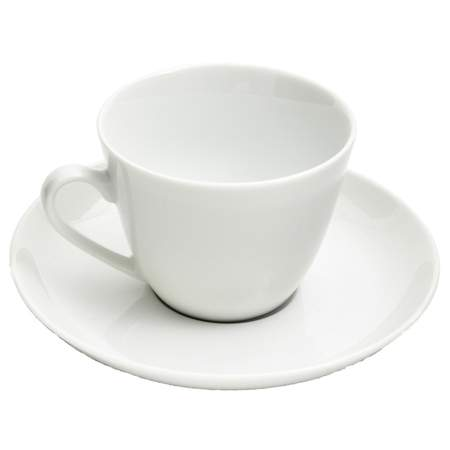 White Coupe Coffee Cup 8oz