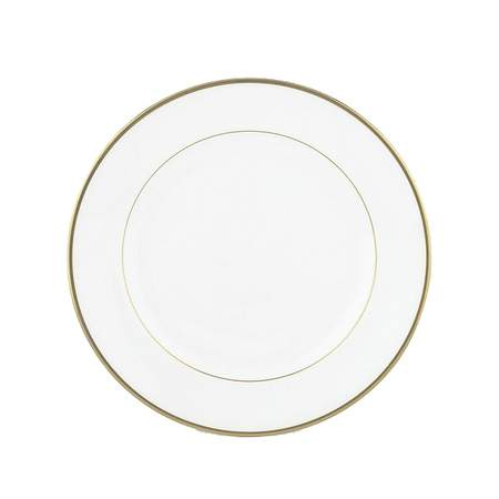 """White with Gold Band Salad Plate 7.5"""""""