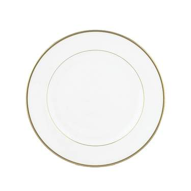 White with Gold Band Salad Plate 7.5""