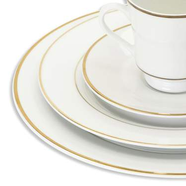 White with Gold Band Creamer