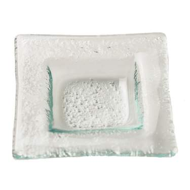 Clear Glass Dipping Dish Square