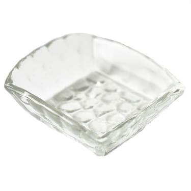 Bubble Clear Dipping Dish Square 3""