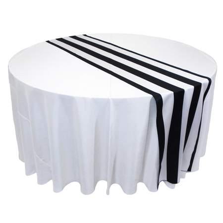 Lamour Stripe Black & White Runner