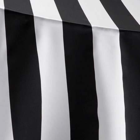 """Lamour Stripe Black & White 90"""" Round"""