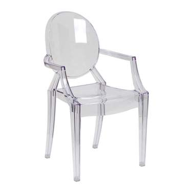 Clear Mirage Chair with Arms