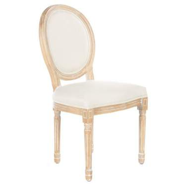 Limewash King Louis Chair