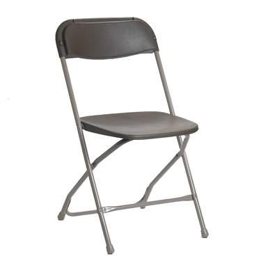 Folding Samsonite Chair Grey