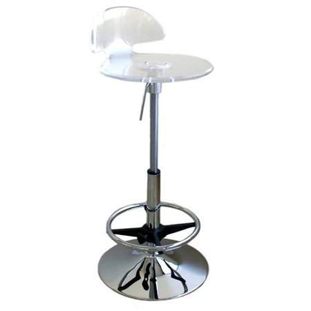 Acrylic Adjustable Barstool
