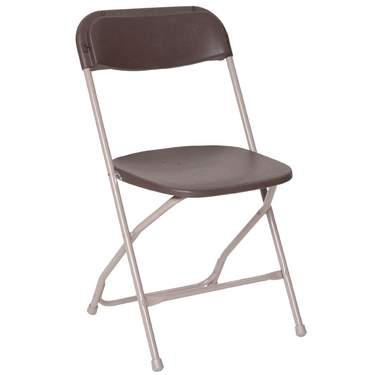 Folding Brown Samsonite Chair