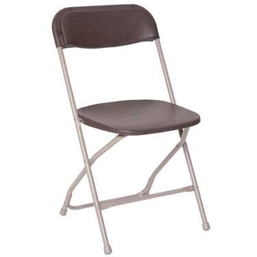 Folding Brown Samsonite Chair