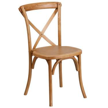 X-Back Wood Farm Chair Hickory