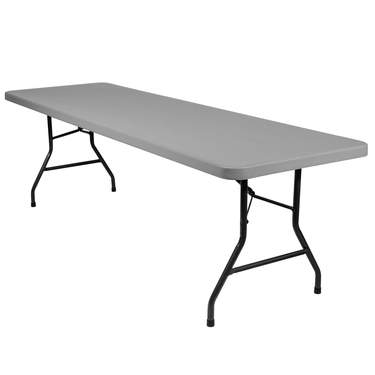 "Plastic Banquet Table 8'x30"" Grey"