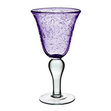 Bubble Iris Plum Goblet