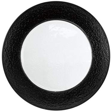 Halo Black Rim Glass Charger