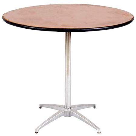 """Table Round Pedestal 36"""" X 30"""" Highboy Table"""
