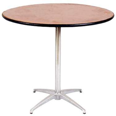 "Table Round Pedestal 36"" X 30"" Highboy Table"