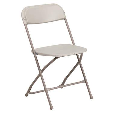 Folding Samsonite Chair Beige