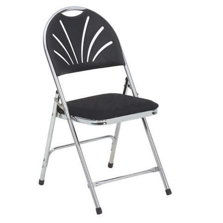 Folding Chair Comfort Black
