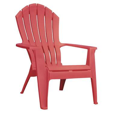 Plastic Adirondack Chair Red
