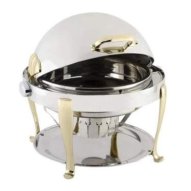 Chafer 8 qt Round Roll Top S/S