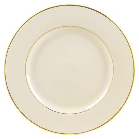 "Ivory with Gold Rim 10"" Dinner Plate"
