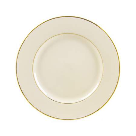 Ivory with Gold Rim Salad Plate 7.5""