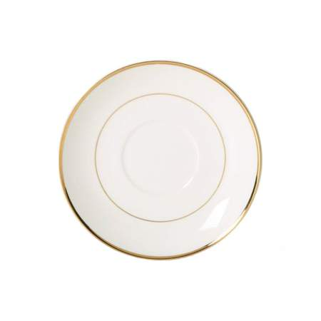 Ivory with Gold Rim Coffee Saucer
