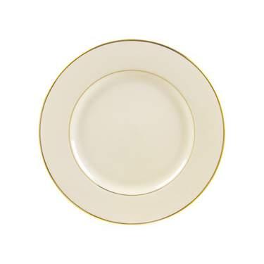 "Gold Rim 6"" Dessert Plate"