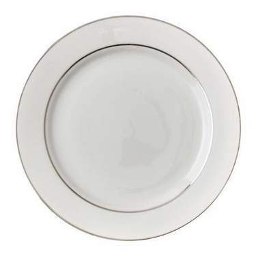 "Platinum Rim 10.5"" Dinner Plate"
