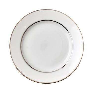 """Platinum Rim Dessert Plate 7.5"""""""