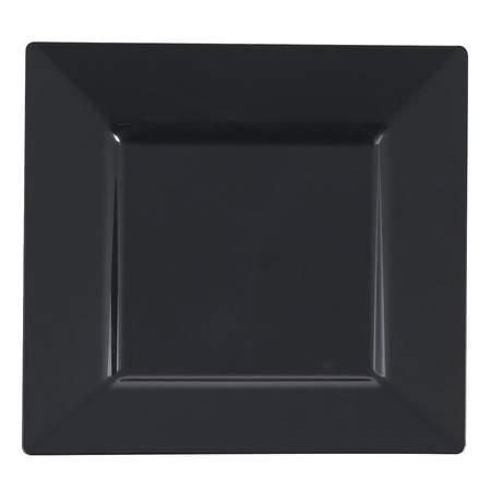 "Square Black 10"" Dinner Plate"