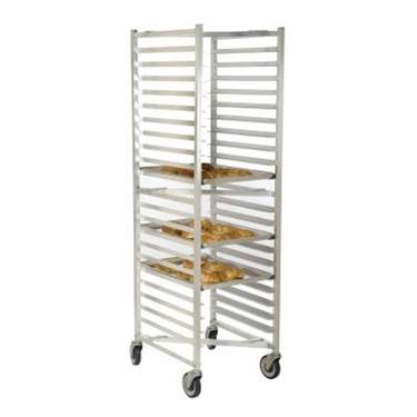 Open Sheet Pan Rolling Z Rack - 20 Pan Capacity