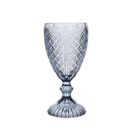 Vintage Carousel Glass Goblet Dusky