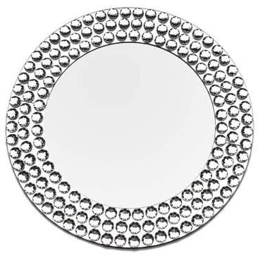 "13"" Diamond Mirror Charger"
