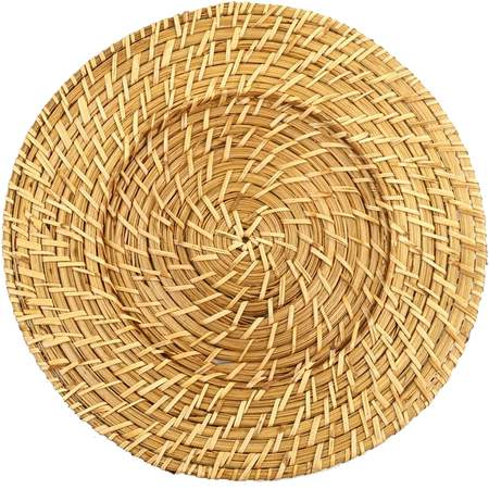 """13.5"""" Round Rattan Charger"""