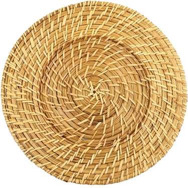 "13.5"" Round Rattan Charger"