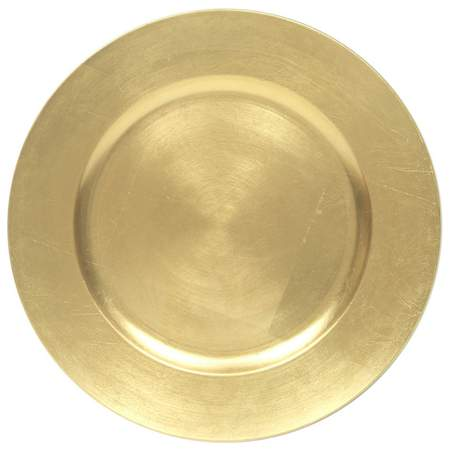 "13"" Gold Leaf Charger"