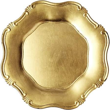 """13"""" Gold Leaf Revere Charger"""