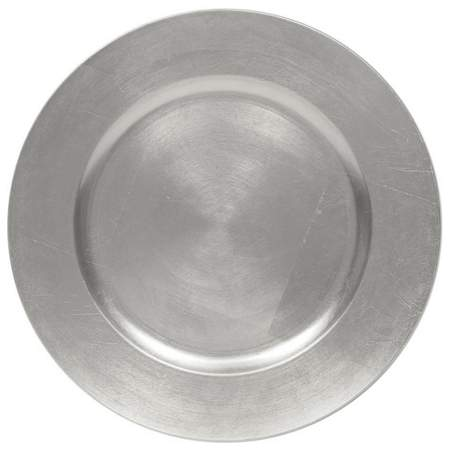 """13"""" Silver Leaf Charger"""