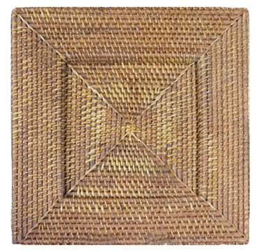 "13.5"" Square Rattan Charger"