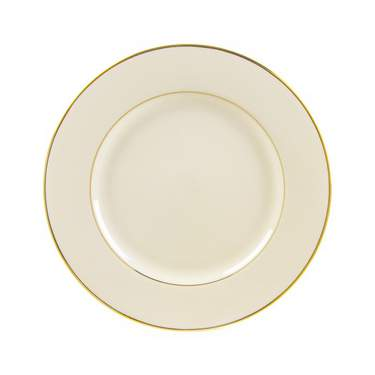 Ivory w/ Gold Rim China - Salad Plate
