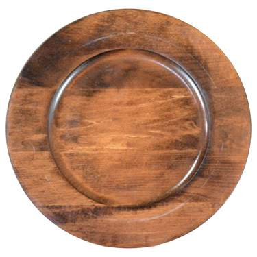 "12"" Fruitwood Charger"