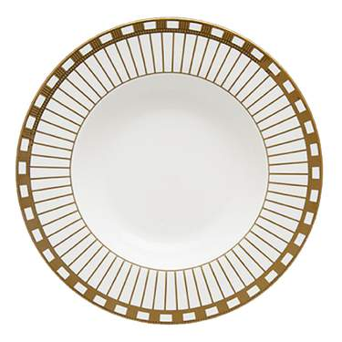 "Alina Gold China Dinner Plate 10.5"""